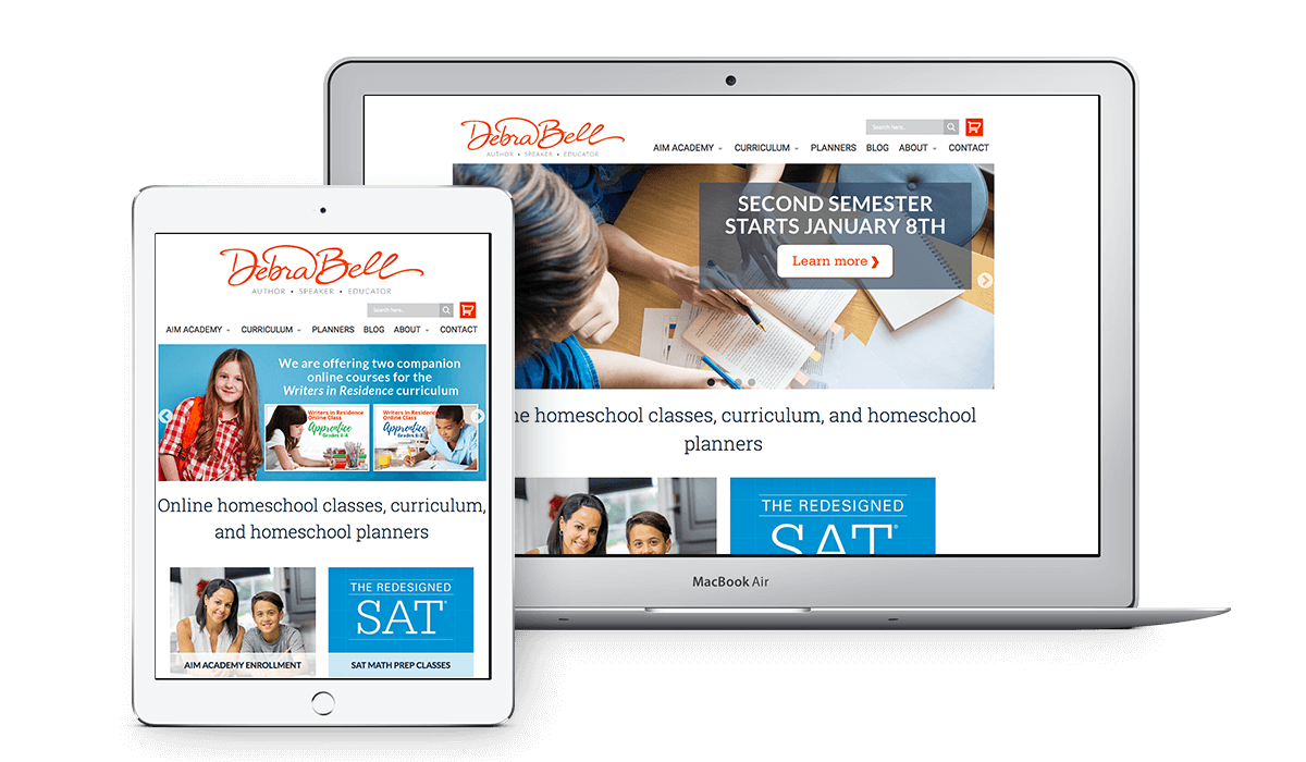 Debra Bell website design image